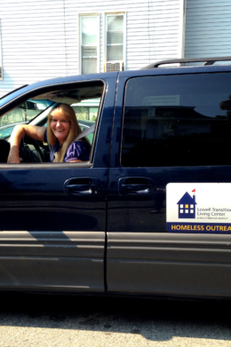 Homeless street outreach van for Lowell Transitional Living Center