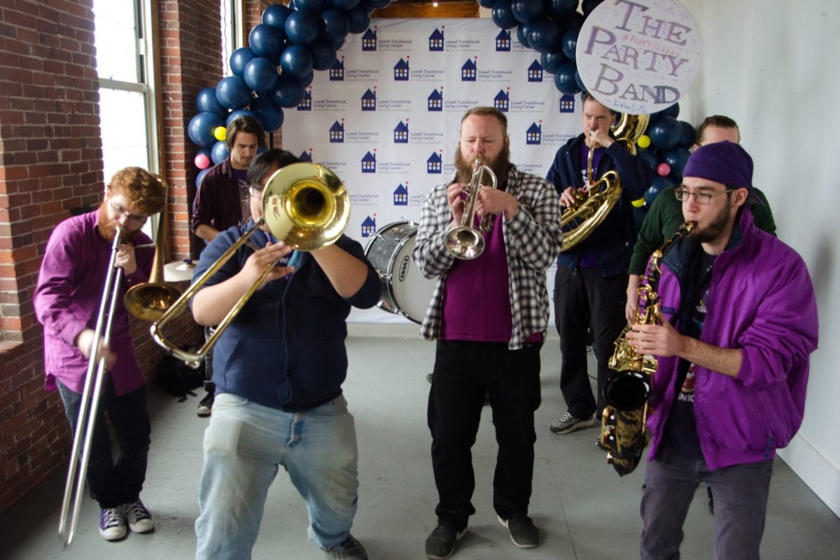 The Party Band kicking off the Ice Cream Social
